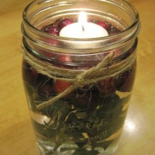 DIY mason jar christmas candle
