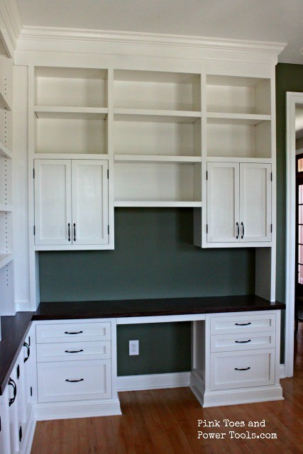 Dining Room Home Office built ins desk view