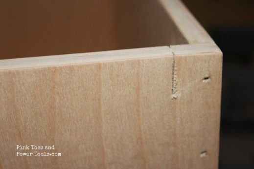 First cut for hanging file drawer