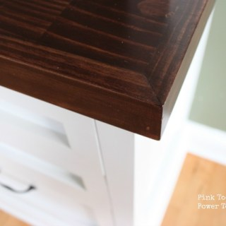 Dining Room/ Home Office {How to make a Desktop or Countertop}