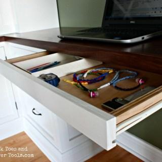 DIY pencil drawer open