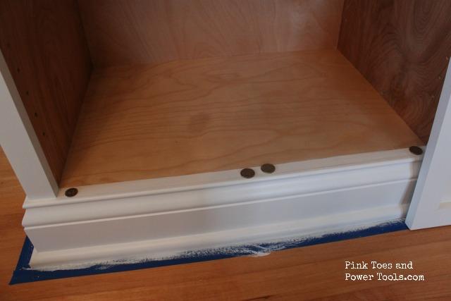 Nickels to space inset cabinet door