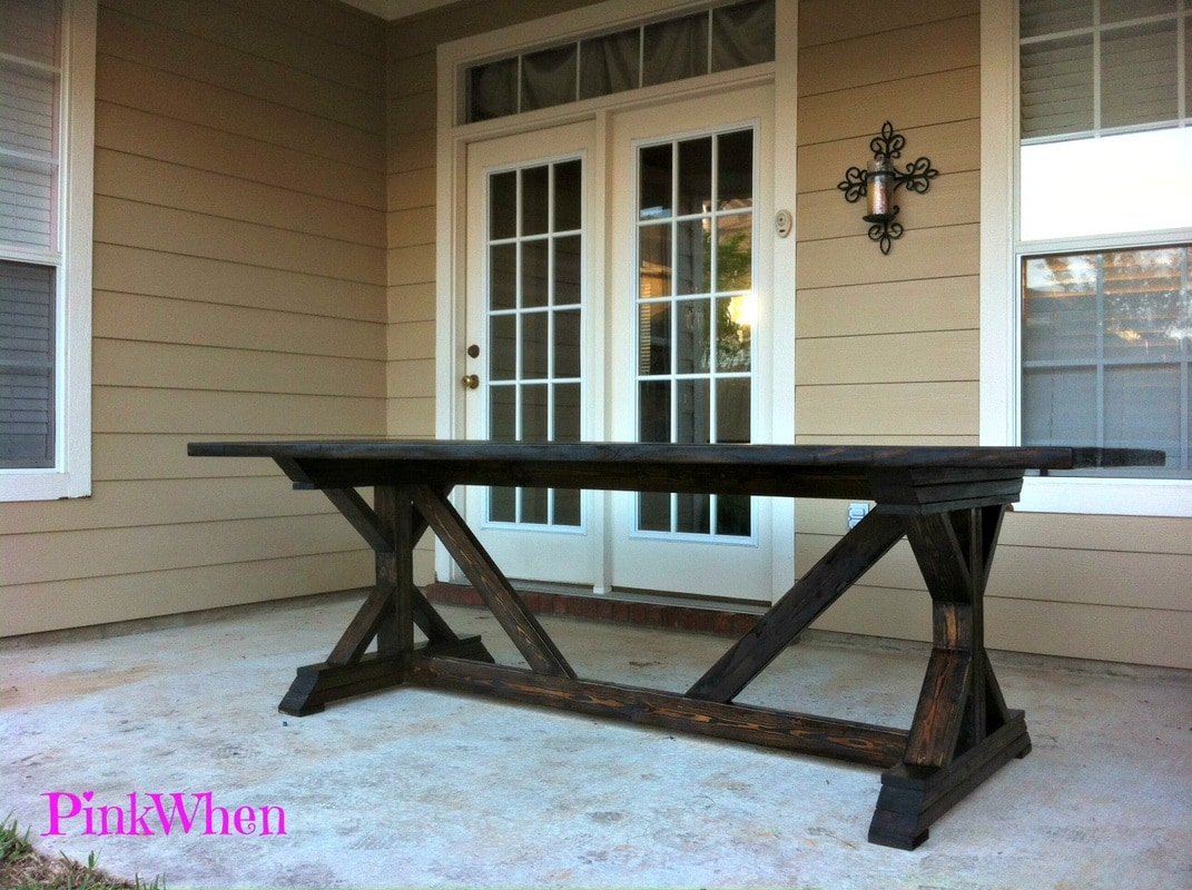 How To Build A Farmhouse Table Youtube Diy 20 Outdoor Patio Bench Pinkwhen