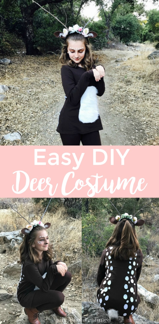 Diy Bank Robber Shirt Easy Diy Deer Costume For Girls Pinned And Repinned