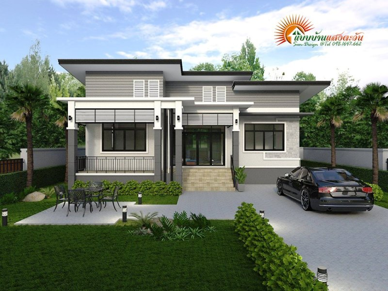 Bungalow Modern Exquisite Design Of A Three-bedroom Modern Bungalow