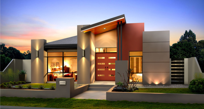 Warna Rumah Depan Australian Inspired Single Story Contemporary House