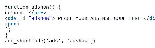 ads-short-code