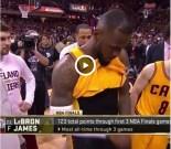 LeBron James Flashes Camera