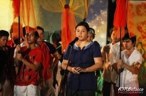Mayor Inday Sara Duterte opening Pasko Fiesta