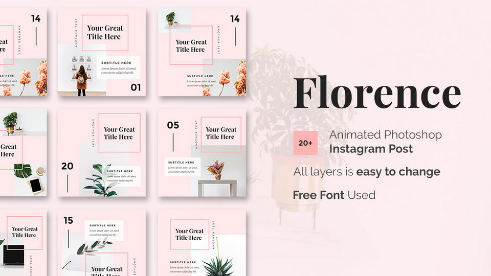 Florence Free Instagram Templates · Pinspiry