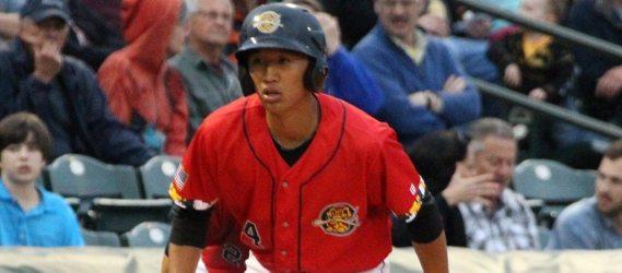 Gosuke Katoh hit one of five Pulaski homers in a win at Burlington Sunday evening.