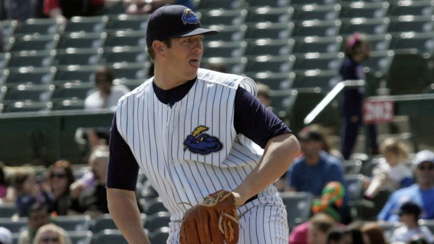 Johnny Barbato has quickly established himself as a key  member of the Trenton Thunder bullpen. (Jessica Kovalcin)