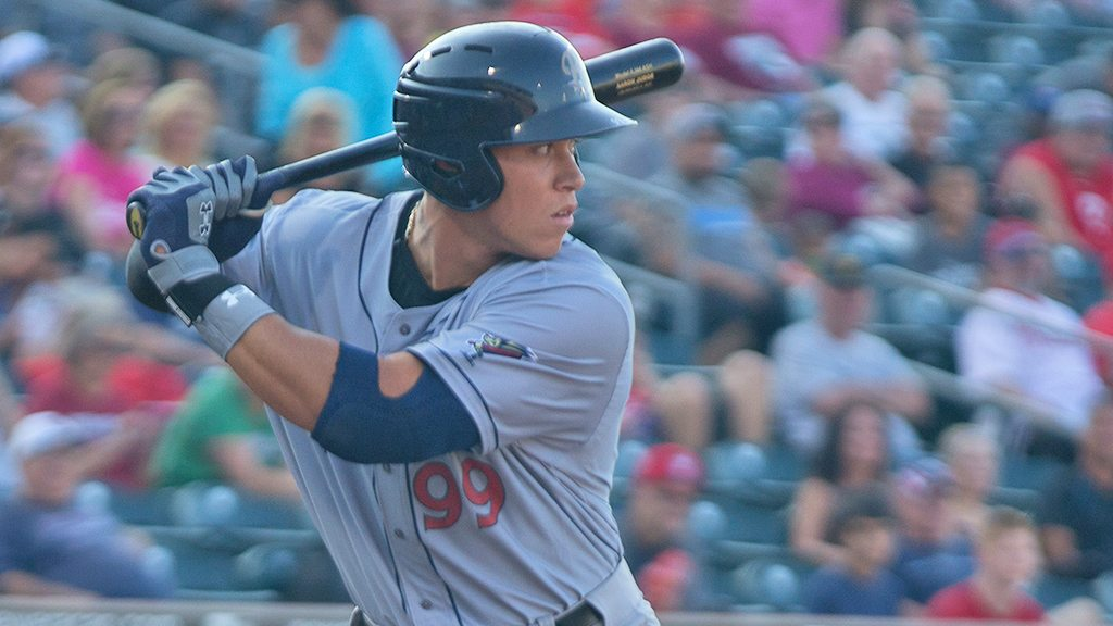 Aaron Judge had career-best four-hits in Tuesday's Ra8Riders loss. (Cheryl Pursell)