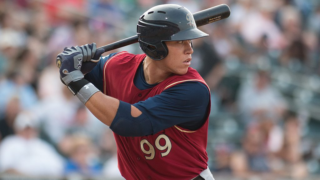 Aaron Judge homered in Saturday night's RailRiders loss. . (Cheryl Pursell)