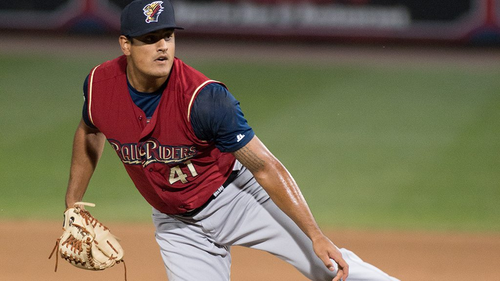James Pazos tossed a scoreless inning in his return to the RailRiders. (Cheryl Pursell)