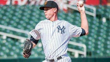 """Tyler Webb threw just 8 pitches in his lone inning.  ( Ryan """"Moose"""" Morris - Freelance Photographer)"""