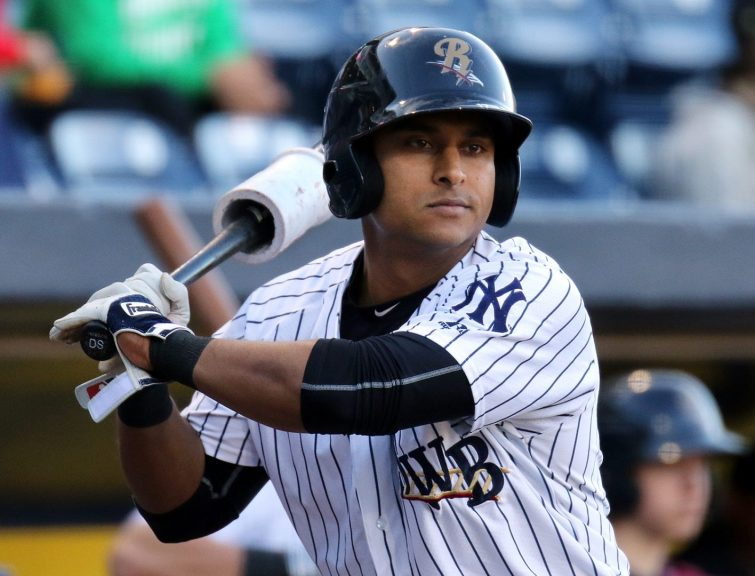 Donovan Solano's three hits helped lift SWB past Lehigh Valley Tuesday night. (Photo by Martin Griff)