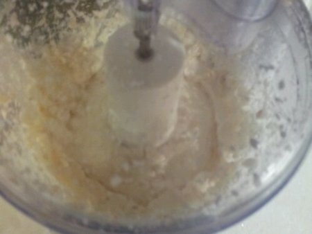 Mic garlic mixture until smooth
