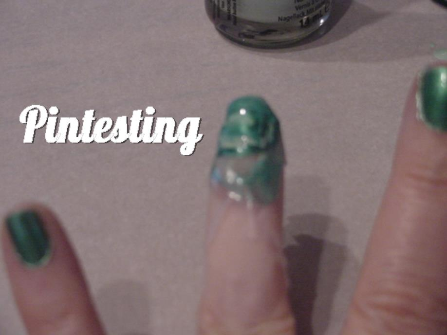 Cozy Four Leaf Clover Water Marble Nail Art Tutorial Usefulresults