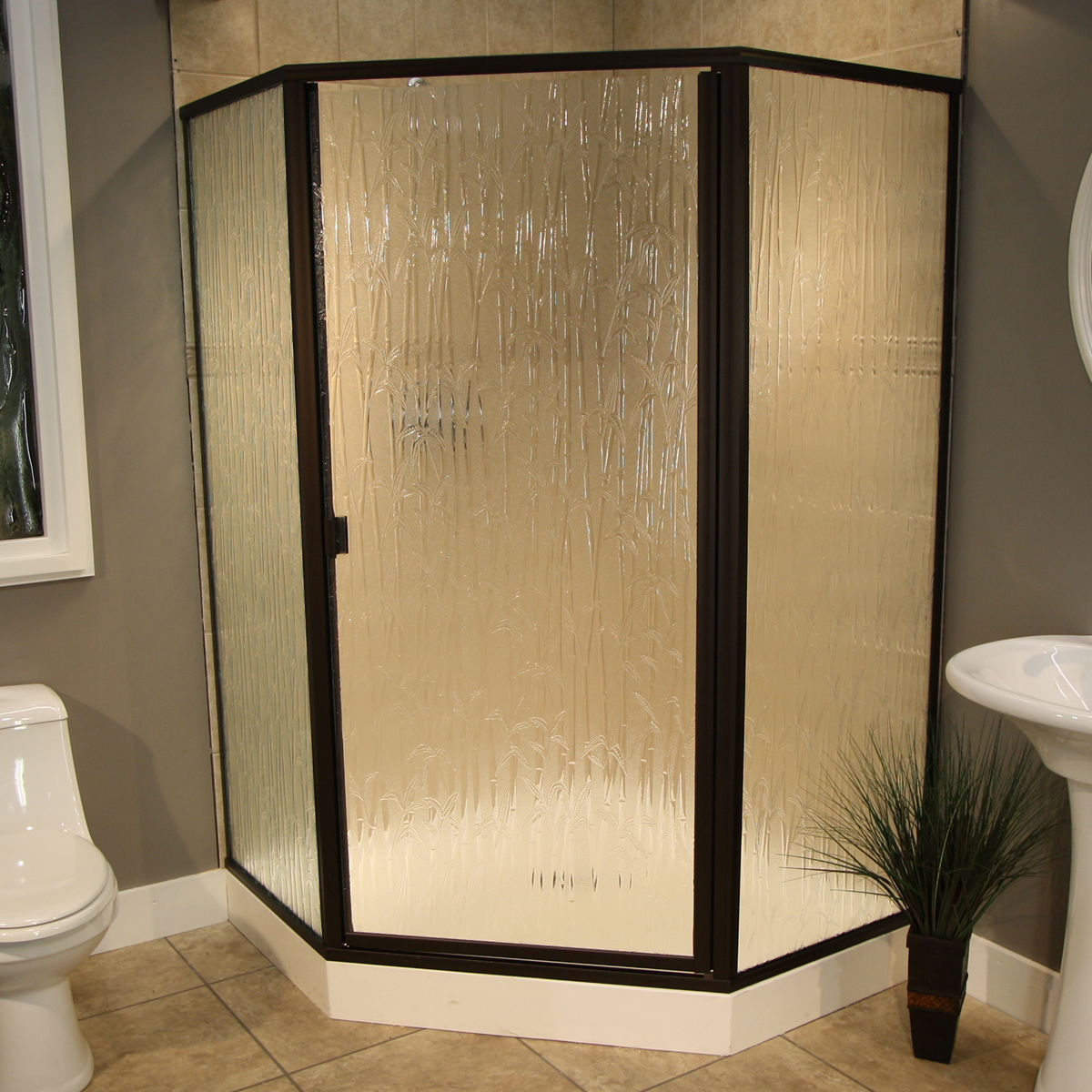 Bamboo Outdoor Shower Enclosures Shower Enclosure Thin Glass Pattern Examples Pioneer Glass