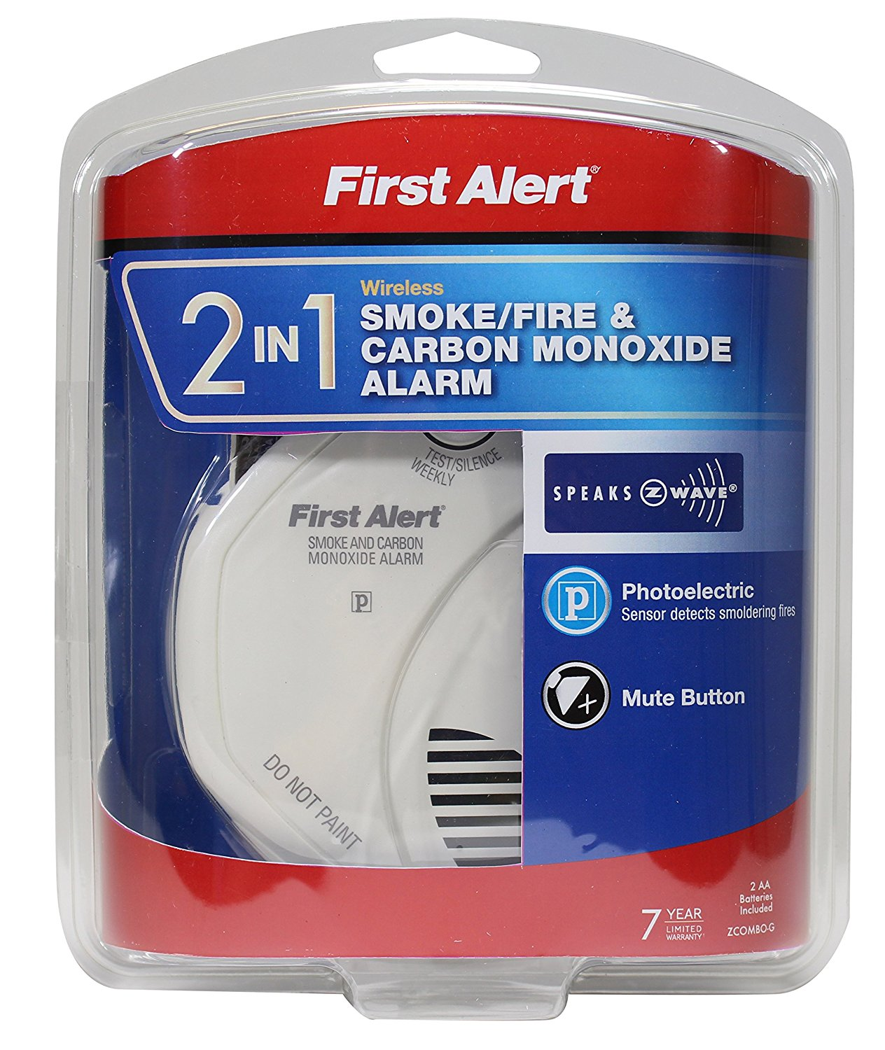 First Alert First Alert 2 In 1 Z Wave Smoke And Carbon Monoxide Alarm