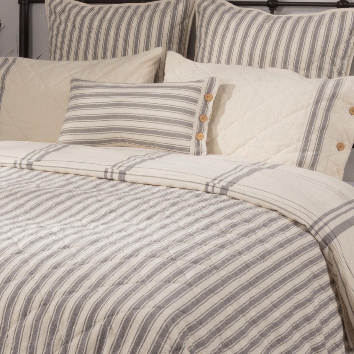 Quilt Cover King Market Place Gray Duvet Cover King