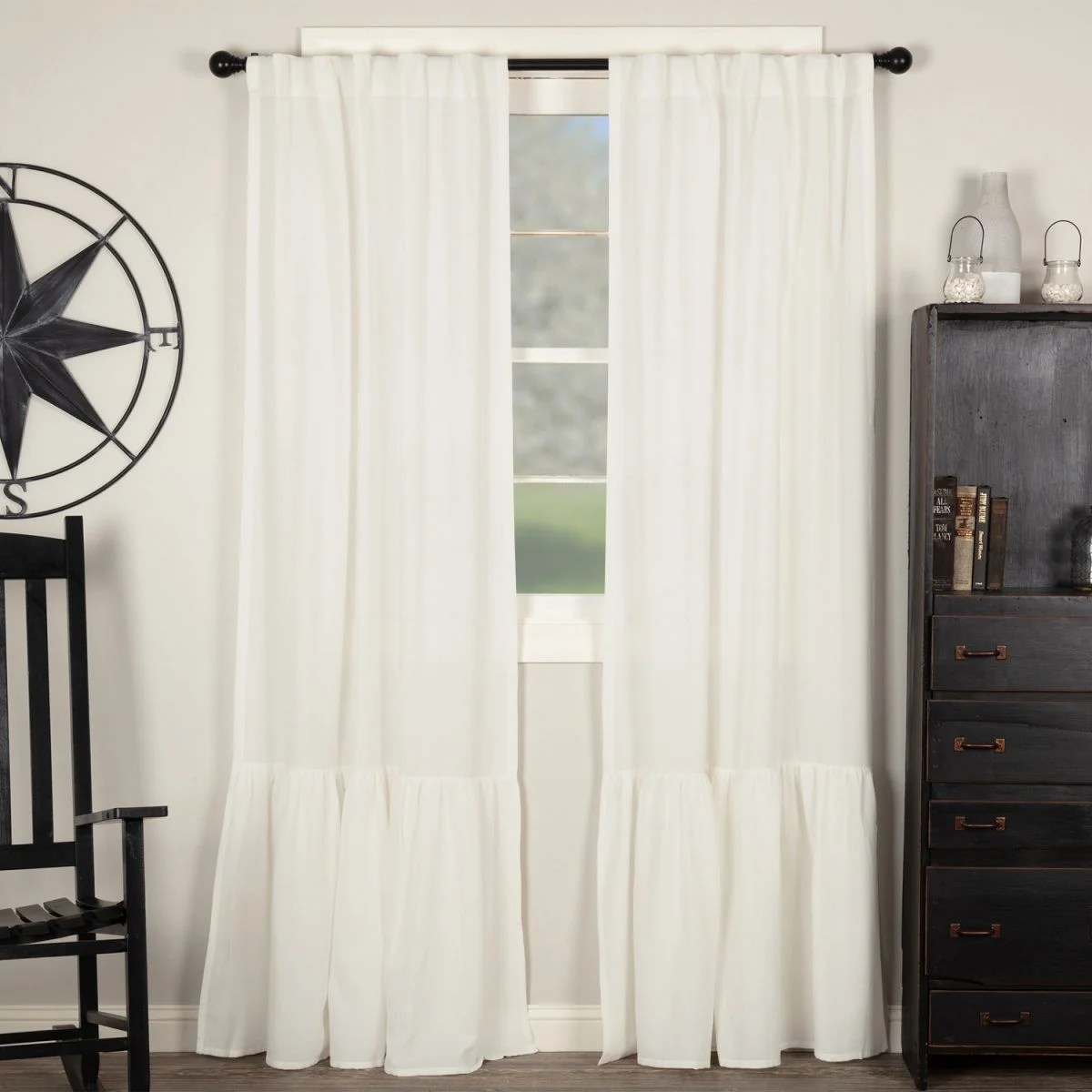 Ruffle Curtain Panel Annabelle High Ruffle Panels 84