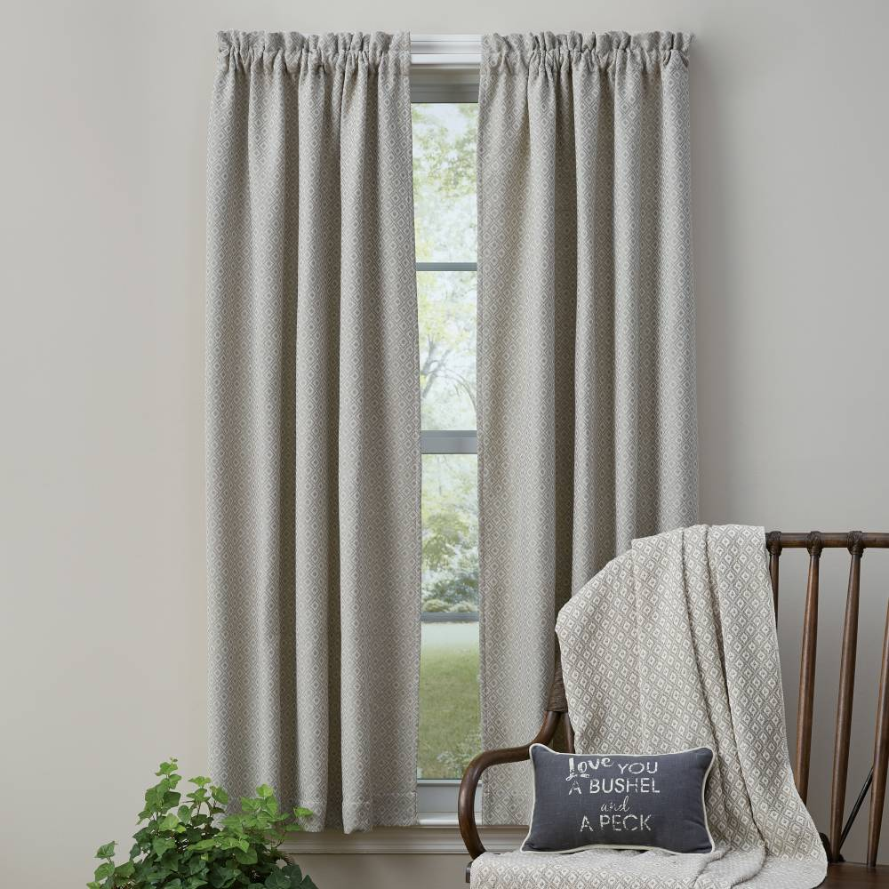 Grey And White Gingham Curtains Shop Farmhouse Style Home Decor Free Shipping On Qualified Orders