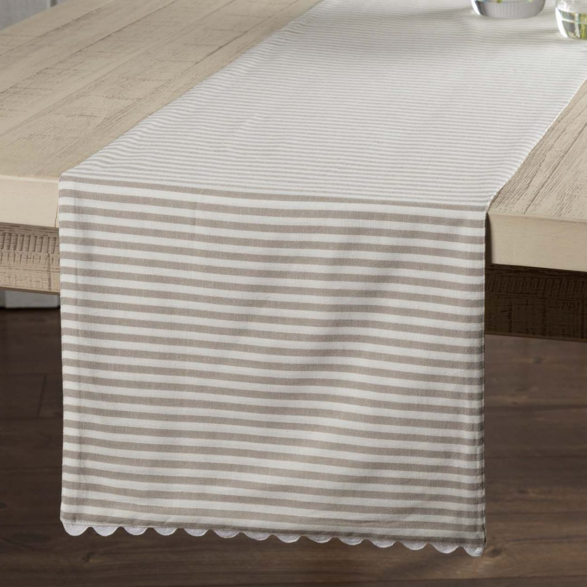 Farmhouse Style Table Runners Farmhouse Ticking Taupe Table Runner 72 Quot Piper Classics