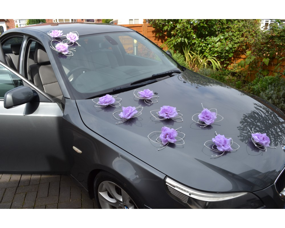 Car Decoration Weding Butterflies Kit Purple Violet Wedding Car Decoration