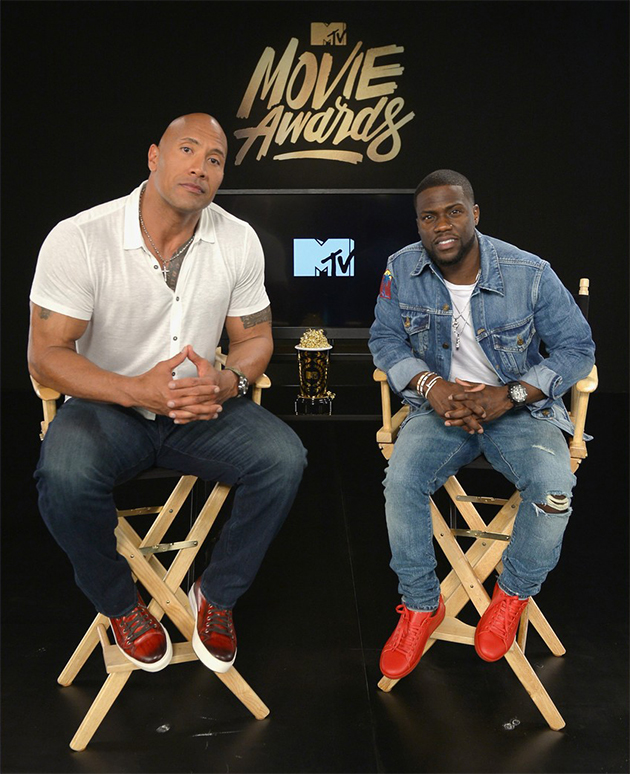 Dwayne Johnson e Kevin Hart vão apresentar o MTV Movie Awards 2016