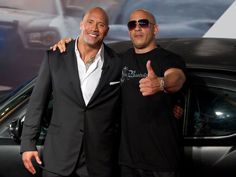 Suposta briga entre Dwayne Johnson e Vin Diesel seria golpe de marketing