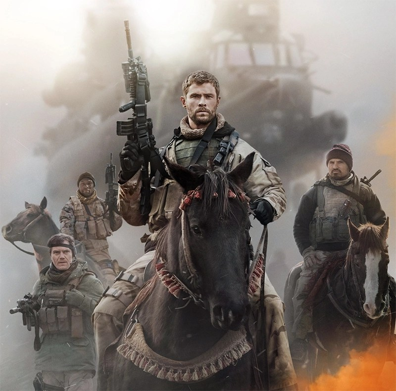 Chris Hemsworth vai à guerra em novo trailer de 12 Strong