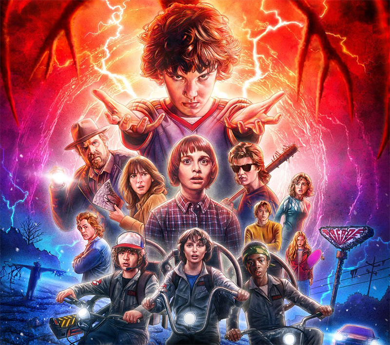 "Stranger Things ganha pôster ""final"" com os personagens da 2ª temporada"