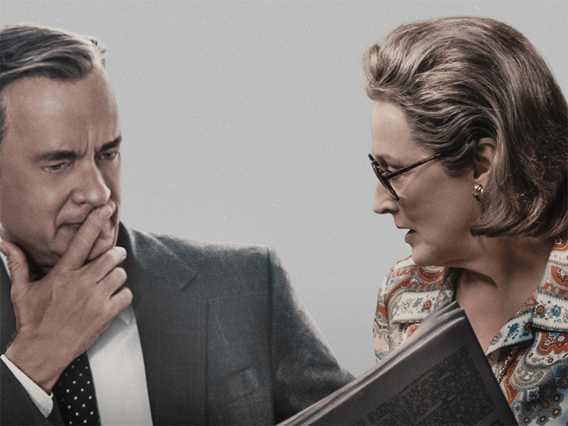 Cartazes de The Post destacam Tom Hanks, Meryl Streep e prêmios da crítica