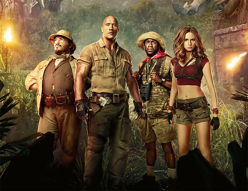 Jumanji surpreende e volta a liderar as bilheterias da América do Norte