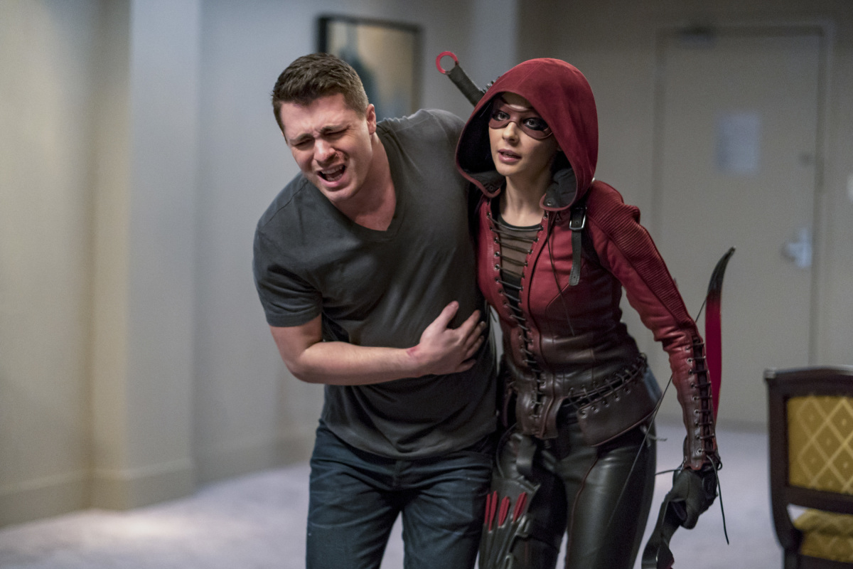 Fotos registram a volta de Arsenal à série Arrow