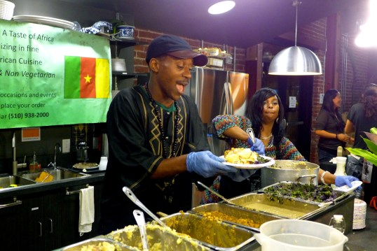 Tastes of Africa Serving up Vegan yumminess.