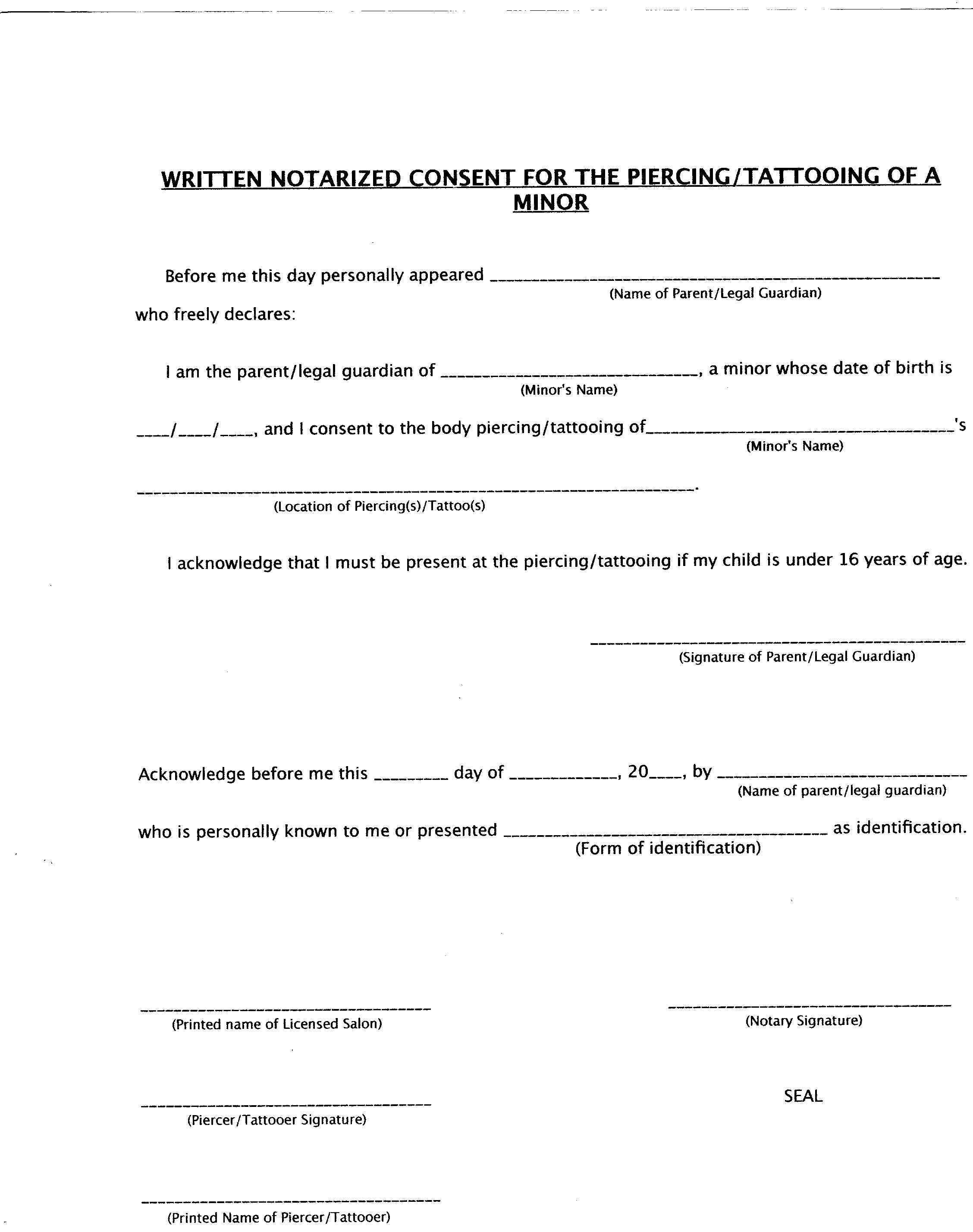 Parent Consent Form Template – Sample Medical Consent Form