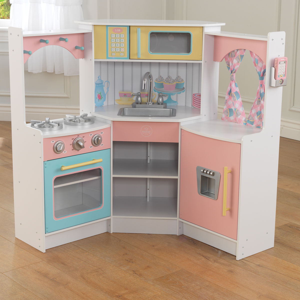Spielküche Kidkraft Deluxe Corner Play Kitchen 53368 Pirum