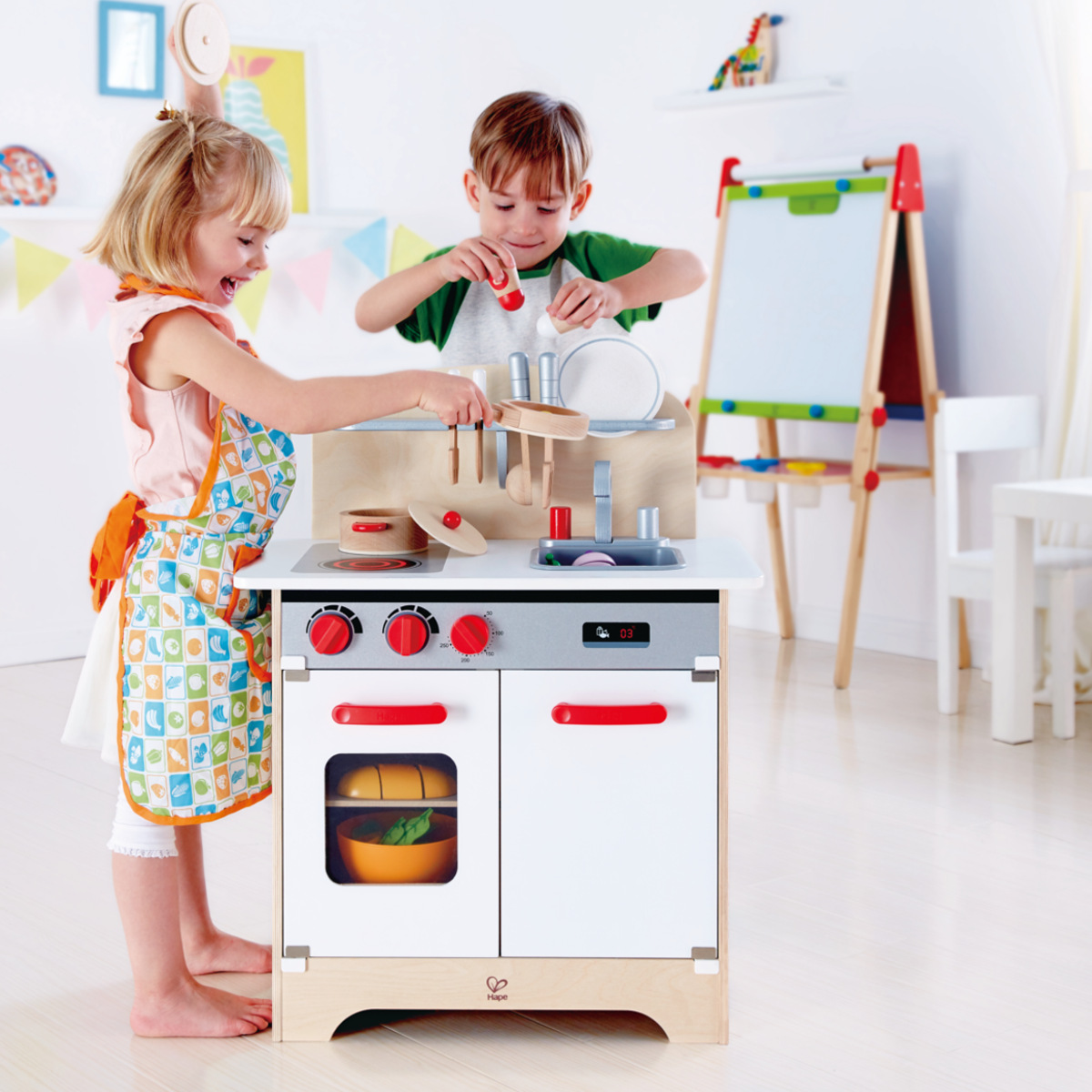 Hape Küche All In One Hape Gourmet Kitchen White E3152