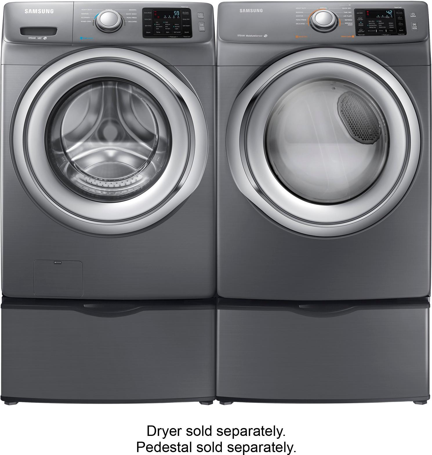 Samsung Front Load Washer Samsung 4 2 Cu Ft 9 Cycle High Efficiency Steam Front Loading Washer Platinum