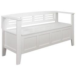 Small Crop Of White Storage Bench