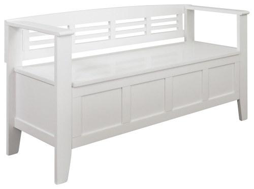Medium Of White Storage Bench