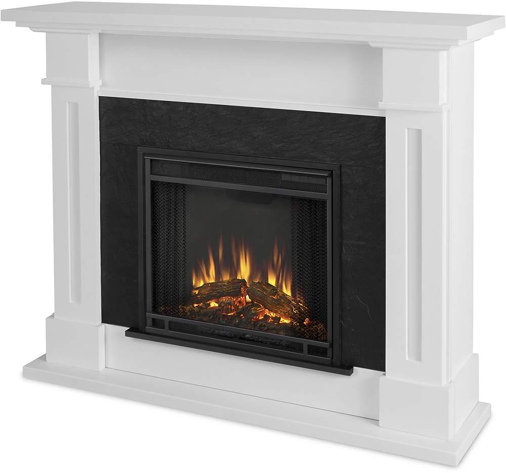 Electric Fireplace.com Real Flame Kipling Electric Fireplace White
