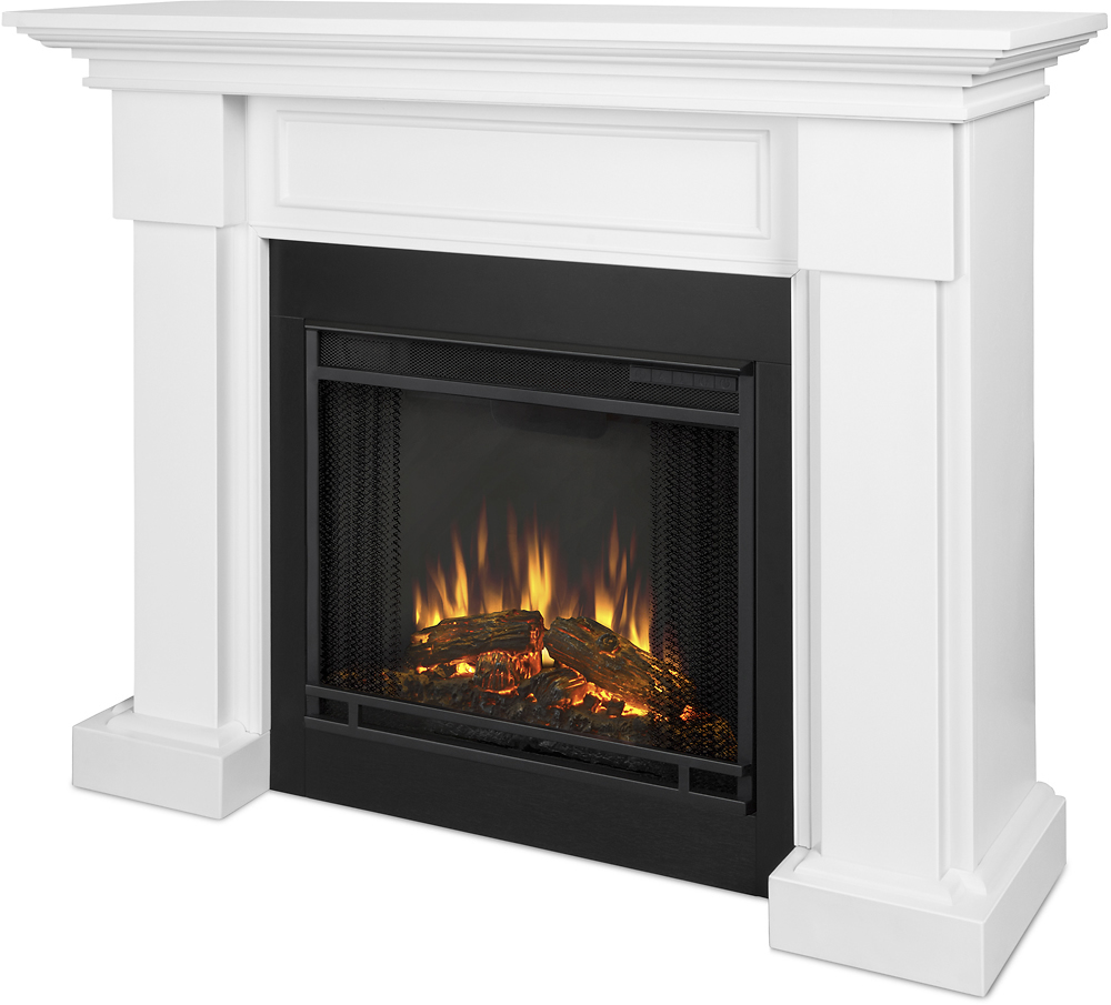 Electric Fireplace.com Real Flame Hillcrest Electric Fireplace White