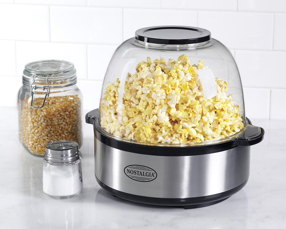 Nostalgia Electrics 24 Cup Stirring Popcorn Maker Silver