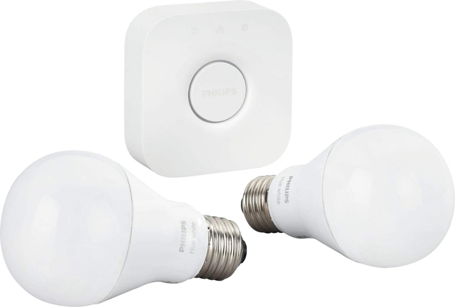 Philips Hub Philips Hue A19 60w Equivalent Wireless Starter Kit White