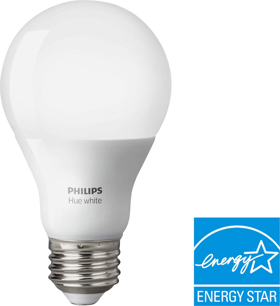 Led White Philips Hue White A19 Smart Led Bulb White