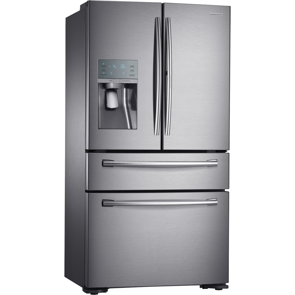 14 Cu Ft Refrigerator Samsung 22 4 Cu Ft 4 Door Flex French Door Counter Depth Refrigerator With Food Showcase Stainless Steel